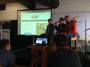 Pavel Hornik, Dr. Steve Taylor und Darco Kazin beraten das Konzept Trail Area Wienerwald
