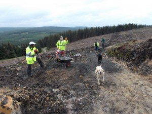 Trailbau im Kielder Water & Forest Park (Foto: Forestry Commission UK)