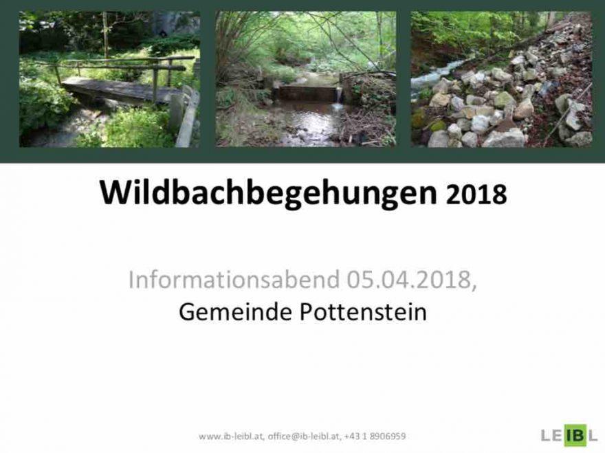 Gemeinde Pottenstein, Wildbachbegehung, Bürgerinformation
