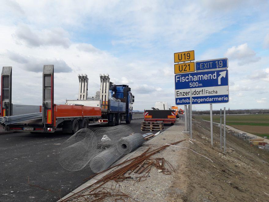 Verkehrsfreigabe der dritten Fahrspur auf der A4 zwischen Fischamend und Neusiedl