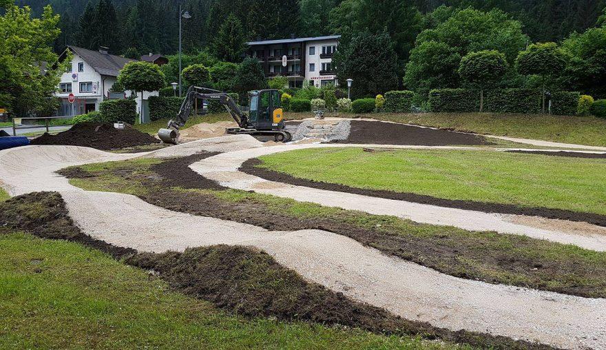 Mountainbike Übungsparcours Feld am See (Kärnten), Planung und Ausführung