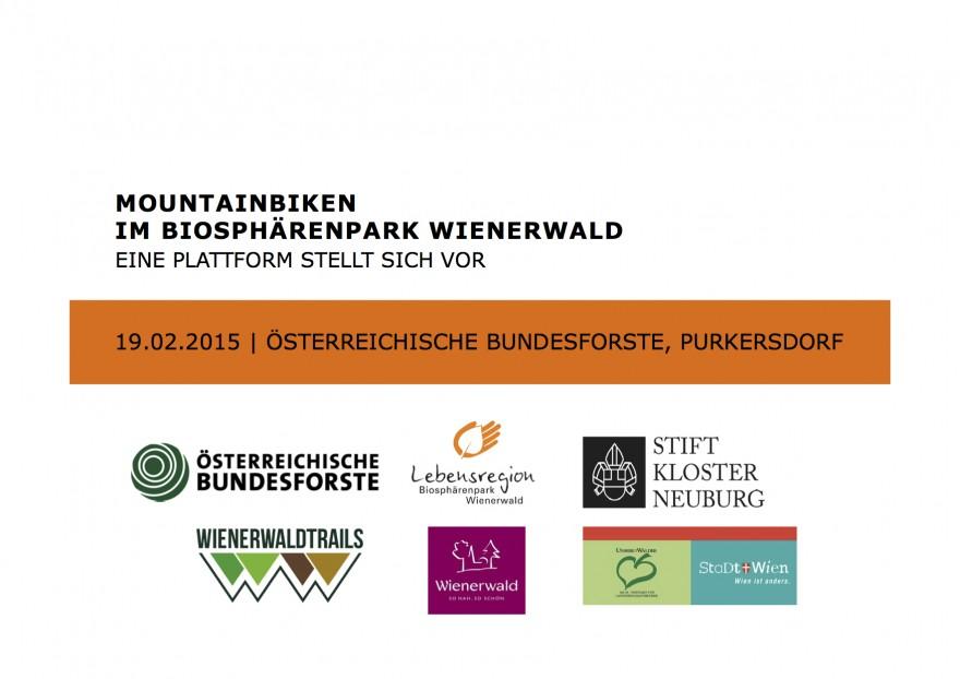 """DI Hubert Leibl in der Stakeholder-Plattform """"Mountainbiken im Biosphärenpark Wienerwald"""""""