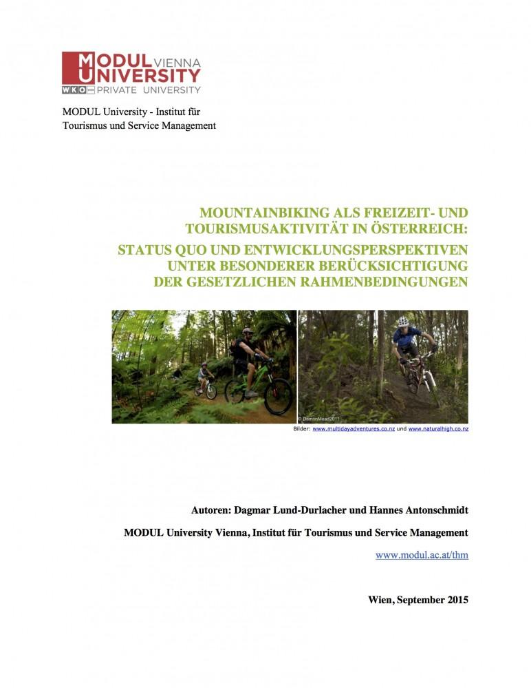 """Experteninterview für Studie """"Mountainbiking als Freizeit- und Tourismusaktivität in Österreich"""""""