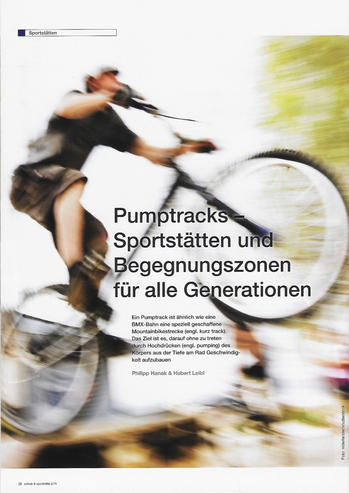 """Gastbeitrag """"Pumptracks"""" im ÖISS-Magazin """"Schule&Sportstätte"""""""