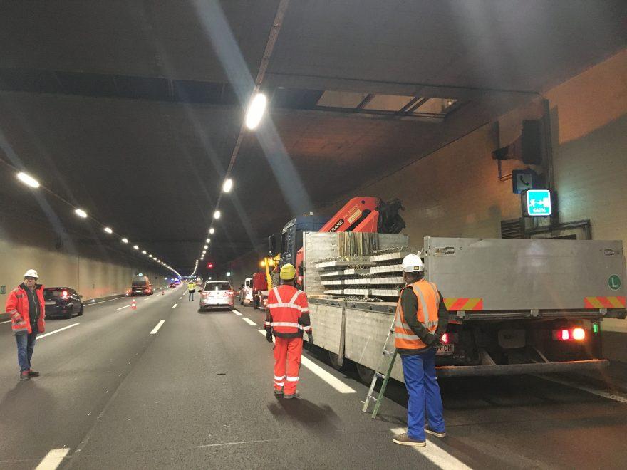 A22 Tunnel Kaisermühlen, Verschluss Punktabsaugöffnungen, Baustellenkoordination gem. BauKG